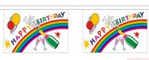 HAPPY BIRTHDAY (BOTTLE) BUNTING - 3 METRES 10 FLAGS